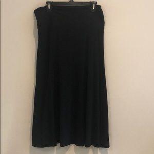 DKNY black long skirt
